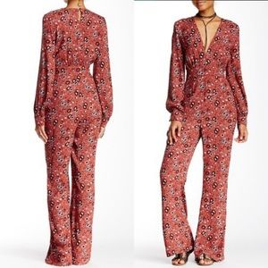 Free People | Rust Combo Some Like it Hot Jumpsuit